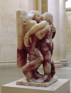 Jacob and the Angel 1940-1 by Sir Jacob Epstein 1880-1959